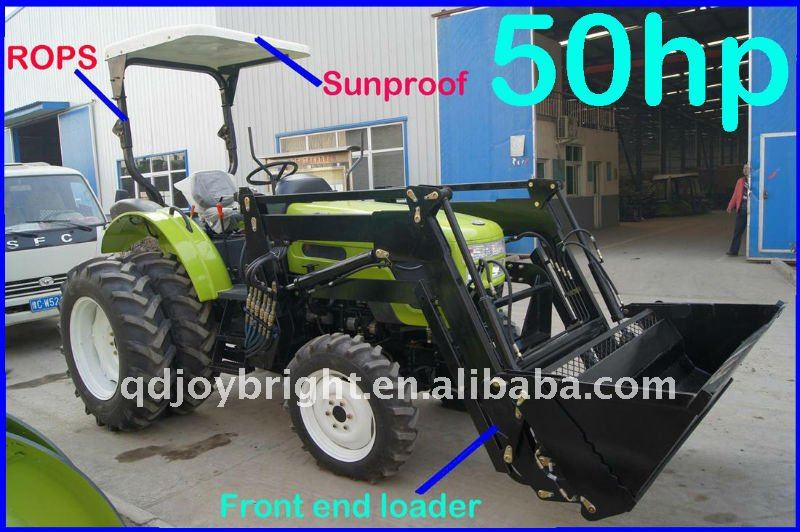 50hp,4X4wd tracteur,EEC,EPA,12F+4R shift,hydraulic steering,3points linkage,traction system,quick hitch,front end loader,fork
