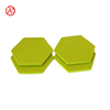 Lemon Green Hexagon shaped 5mm felt coasters for promotion