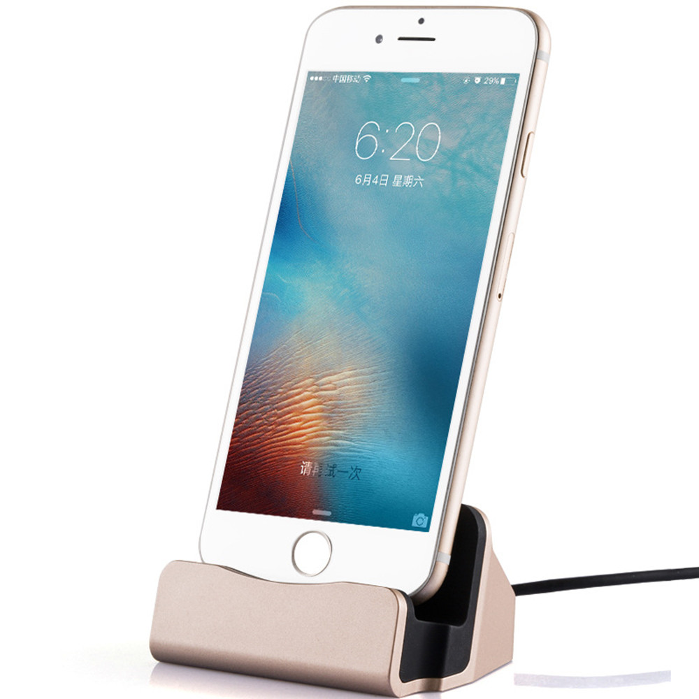 Universal USB Cell phone Station Desktop phone Holder Charging Charger For iPhone Samsung micro usb