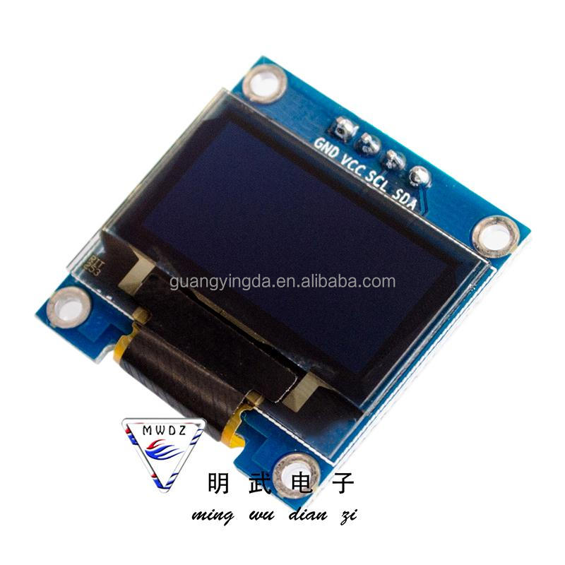 0.96 inch blue white IIC communication small OLED display module 51 microcontroller