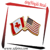Customized USA Canada Friendship insignia national flags badge