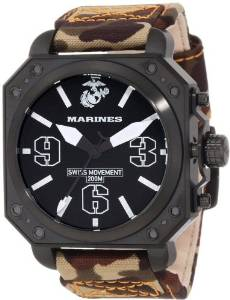 Wrist Armor Men's WA141 C4 Stainless Steel Analog Display Swiss Quartz Watch with Camouflage Strap