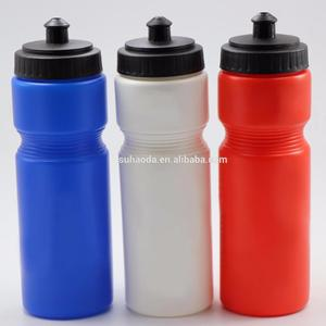 OEM logo 750ml PE material sport gym water bottle bicycle drinking plastic water bottle