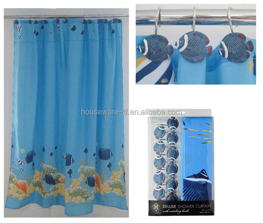 decoracin pulgadas de polister cortina de ducha con accesorios de bao