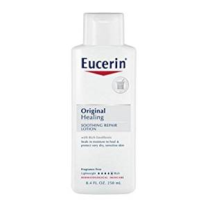 Eucerin Original Healing Rich Lotion 8.40 oz Heritage - Rose Petals Rosewater Concentrate - 2 fl. oz.