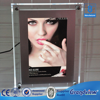 Window display Led edge lit photo frame crystal light box