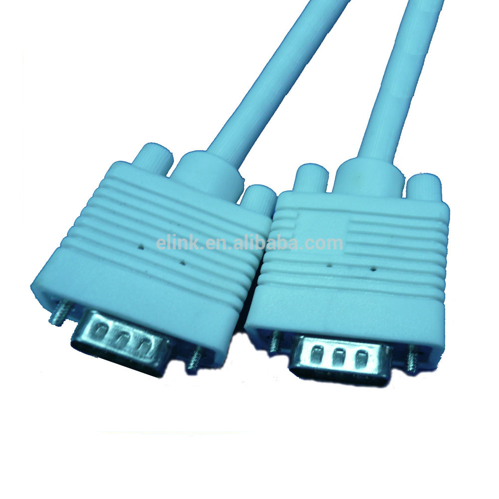 hot sale high quality vga cable 15 pin d sub rgb vga cable rs232 vga cable