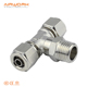 3 way elbow brass equal union tee press connection push-in t shape pipe fitting manufacturing line