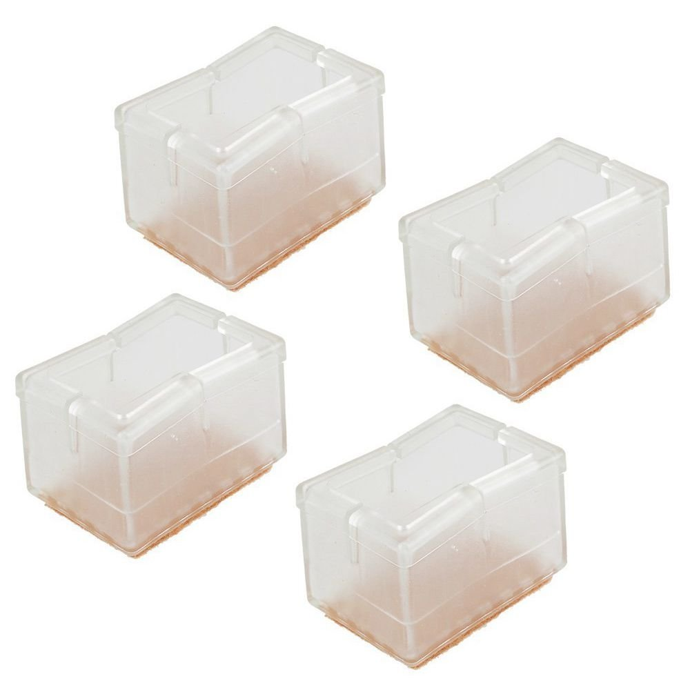 SODIAL(R) Chair Leg Wood Floor Protectors, Chair Feet Glides Furniture Carpet Saver, Silicone Caps with Felt Pads #9, Fit Length (3.9-4.7cm) & Width 2.4-3cm 16 Pack