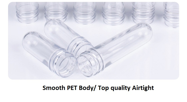 Free Sample 24neck PET Preform with 16g 19g 22g 25g 30g 35g 40g  Cosmetic  bottle preform