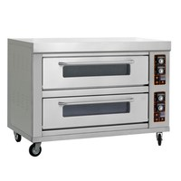 Bakery Equipment Two Layer with Six Trays commercial bread baking oven