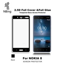 Best Quality 2.5D 9H Silk Print Tempered Glass Screen Protector For Nokia 3 5 6 7 8 540 Screen Guard