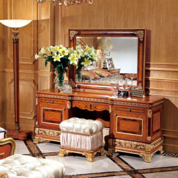 Yb62 European Style Wooden Makeup Dresser With Mirror,Luxury Antique  Wedding Bedroom Set,Wedding Decoration - Buy Antique Vanity Dresser With ...