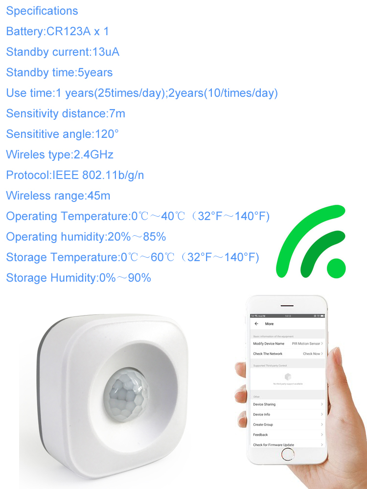 Home Automation Wifi Pir Sensor Detector Work With Alexa Tuya Smart App -  Buy Outdoor Pir Detector,Sensor Light Detector,Pir Presence Detector  Product