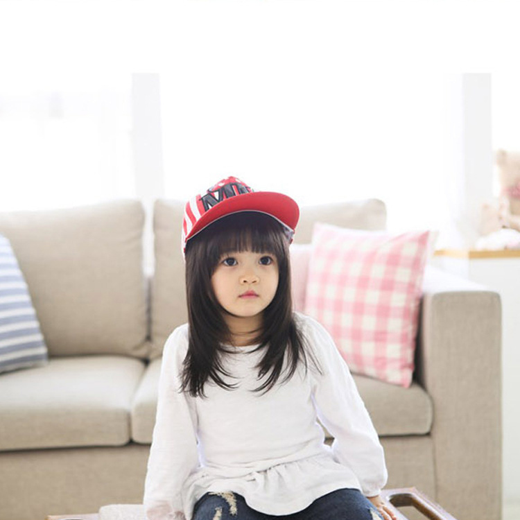 Get Quotations · Kids Snapback NY Embroidery Baby Boys Girls Cotton Striped  Baseball Cap Children Hip Hop Hats Kids 1ccb0ed9033