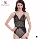 One Piece Body Shape Black Female Bodysuit Sexy Lace Lingerie