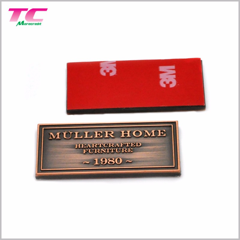 NO MOQ Custom Brand Logo Metal Sticker Label High Quality Adhesive Metal Name Sticker