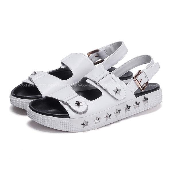 35a23515462 Get Quotations · New 2015 Cork Sandals Female Summer Birkenstock Flats Shoe  Female Designer Flip-flops Metal Decoration