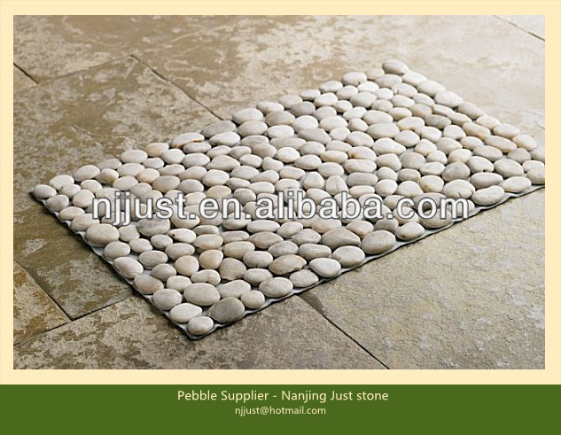 Bon Hot Selling Rectangle White River Pebble Stone Door Mat   Buy River Pebble  Stone Door Mat,Home Decoration Door Cushion,Outdoor Stone Mat Product On ...