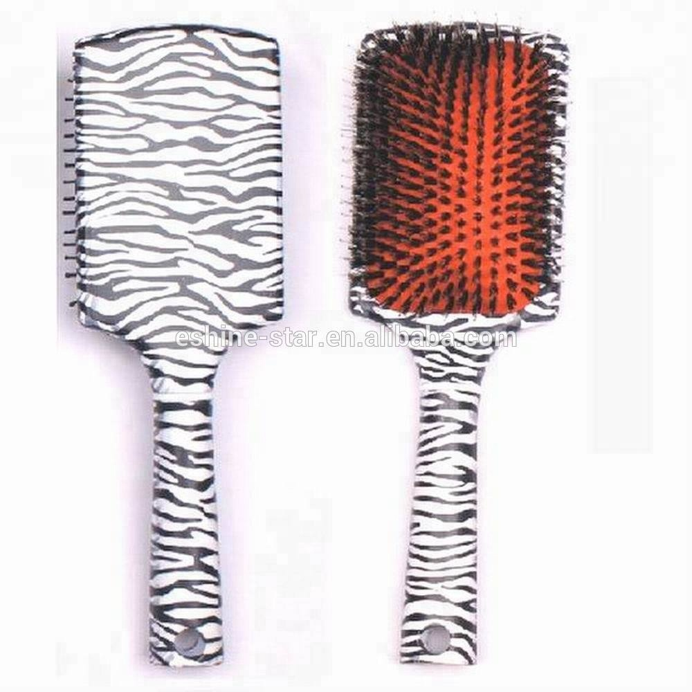 Nylon teeth plastic paddle hair brush with low price