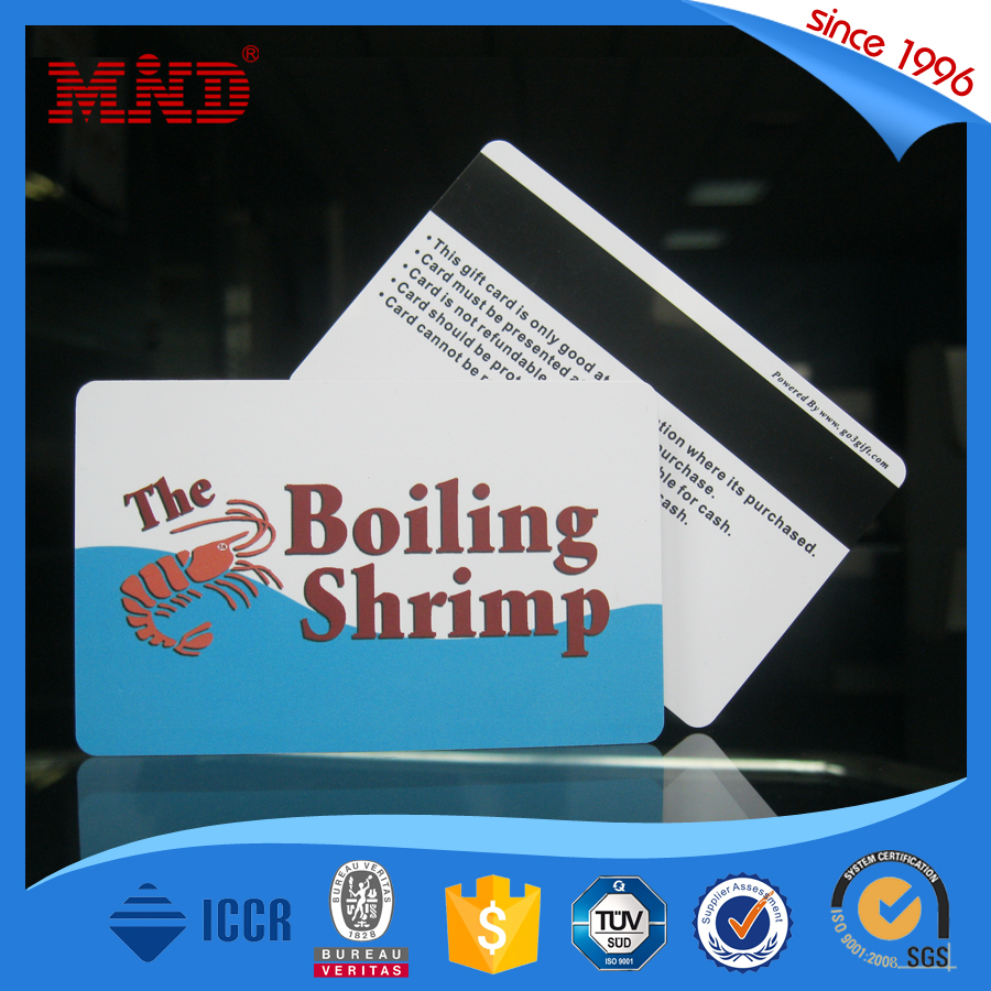 2016 hot sale t5577 id card with magnetic stripe