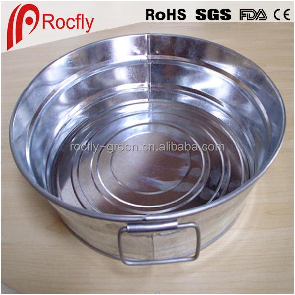Oval Party Rustic Galvanized Bucket Tub