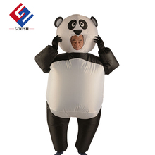 Inflatable pick me up costume inflatable panda mascot costume adult panda costume