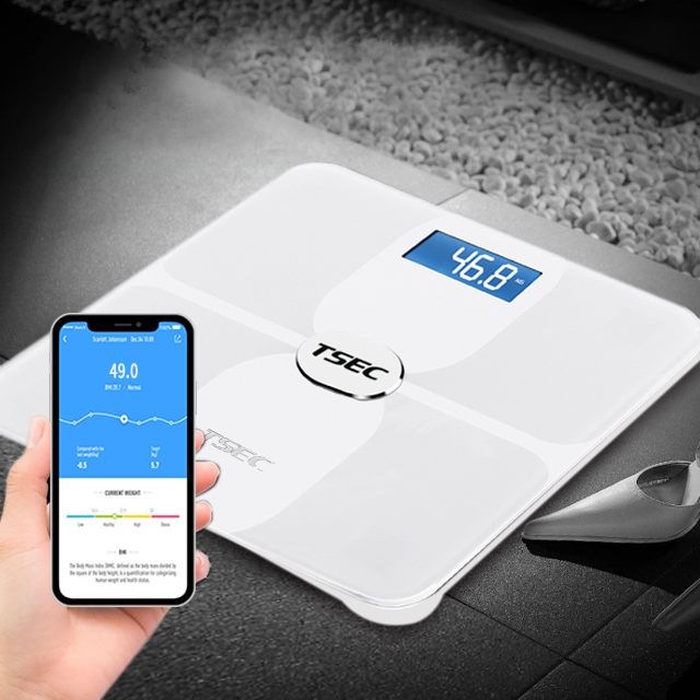 ITO glass platform Bluetooth Body-fat scale 396 Lbs Smart Digital Bathroom BMI Bluetooth Body Fat Weight Scale With Smart APP
