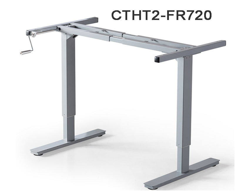 2 Legs Sit To Stand Manual Ergonomic Height Adjustable