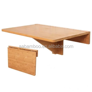 Natural Bamboo Wooden Wall-mounted Drop-leaf Table Folding Kitchen & Dining Table