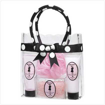 Polka-dot Bag Bath Gift Set