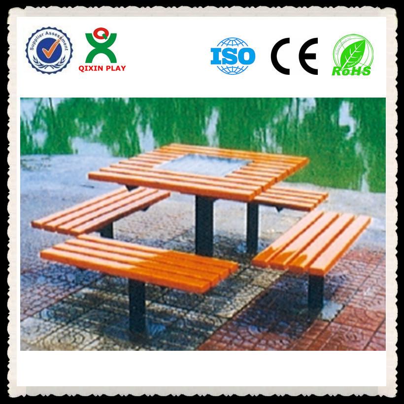 4 Sitze Holz Schach Tisch Chinesisch Schachbrett Tisch Aus Holz Garten Park  Schach Spielen Spieltisch Qx