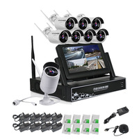 Factory price 8ch 720p Wifi NVR kit Waterproof cctv security camera system IP 8ch CCTV wireless