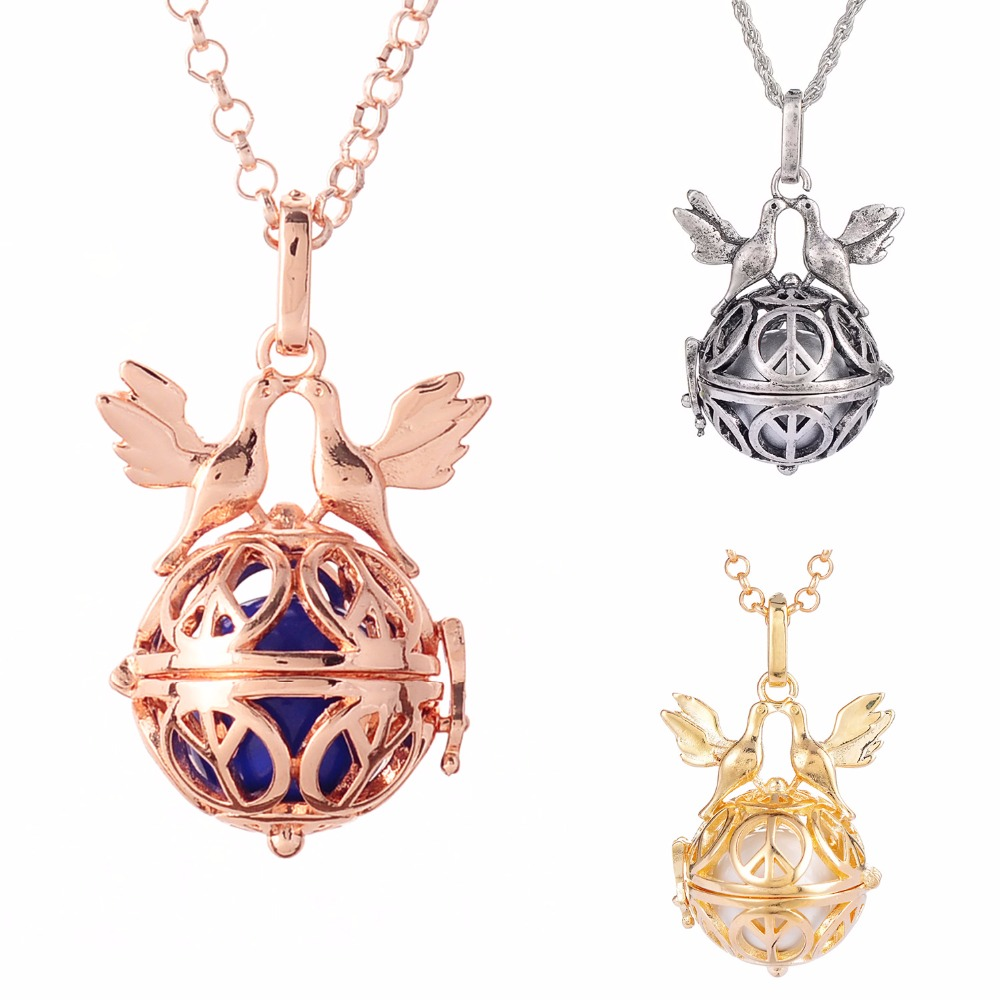 HB0116 Harmony Cage Ball Maternity Necklace Chime Sound Wishing Pendant Necklace