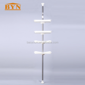 Adjustable Shower Tension Pole Caddy,Bathroom Storage Rack - Buy ...