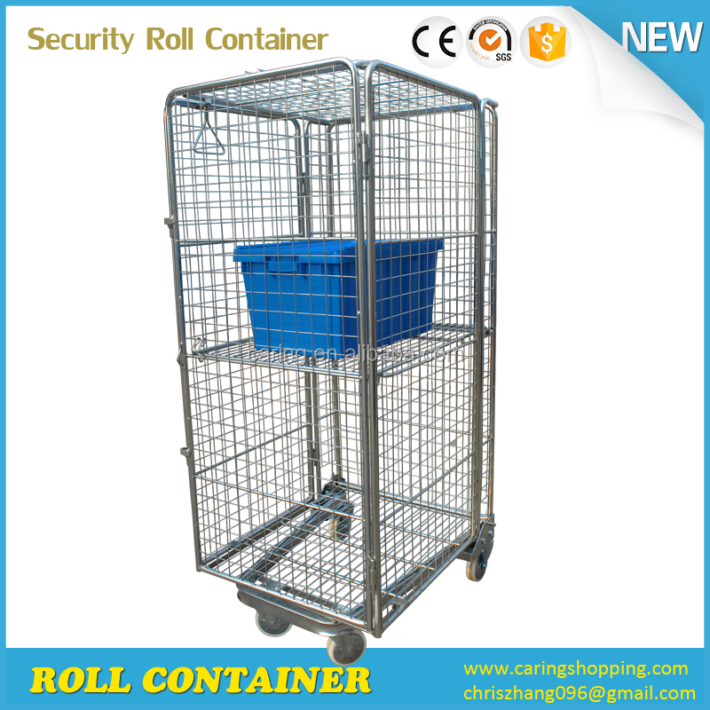 Laundry Used Metal Storage security stainless roll container