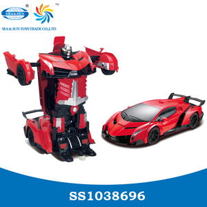 1:12 6ch trans robot toy car with light and music ,deformation robots