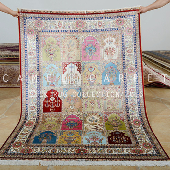 Persian Rugs And Carpets Silk Hand Knotted Islamic Wall Hanging