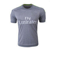 rubber printing mens football jersey high quality cotton t shirt for court
