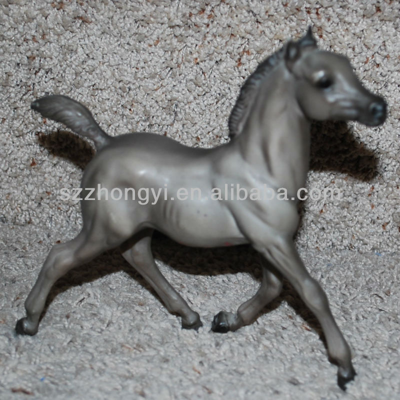 Plastic gray running Breyer Horse Toys animal figures for kids