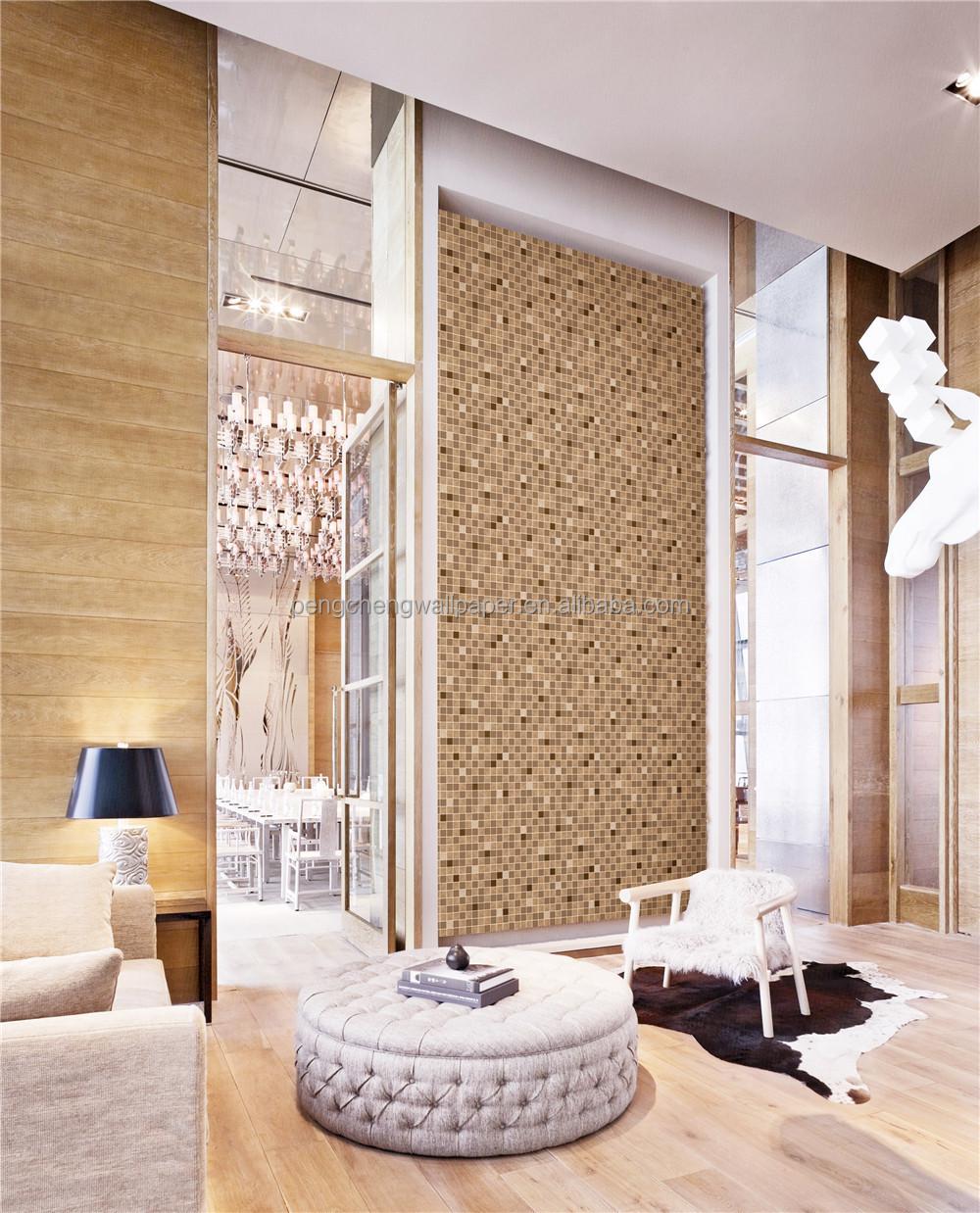living room stone wallpaper