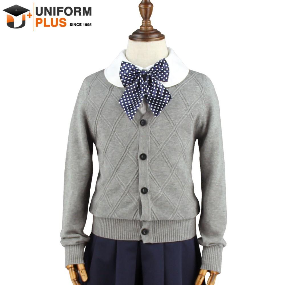 921ea3cb24b Wholesale Cotton Gray Children School Uniforms Cardigan