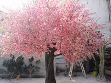 high simulation artificial cherry blooming flowering tree for outdoor landscaping