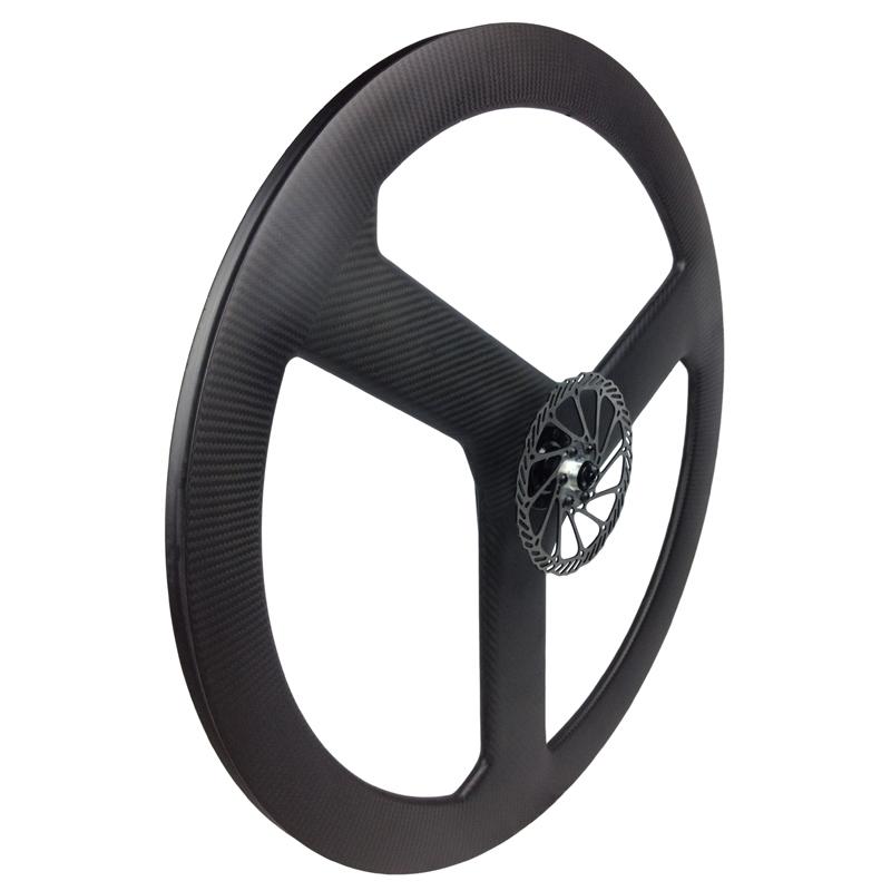 Custom Build Bike Road Disc Brake Tri Spoke Wheel With Pmi