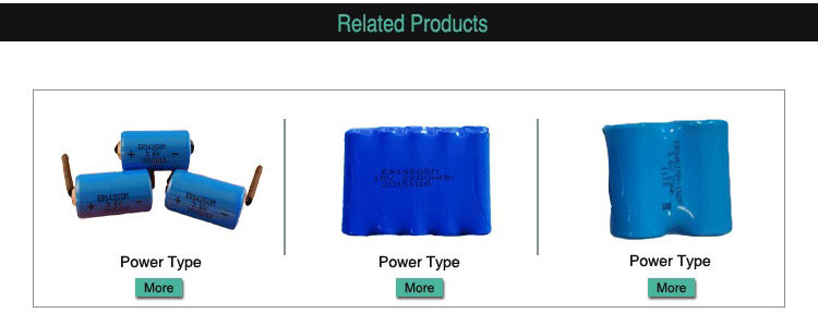 ER10450 AAA 3.6V 800mAh lithium battery with UN38.3 and ROHS