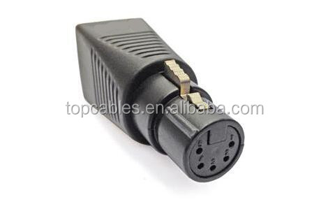 RJ45 female to XLR 3P female adapter for DMX512 cable