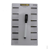 nice quality low price cmyk printing dry erase wall calendars