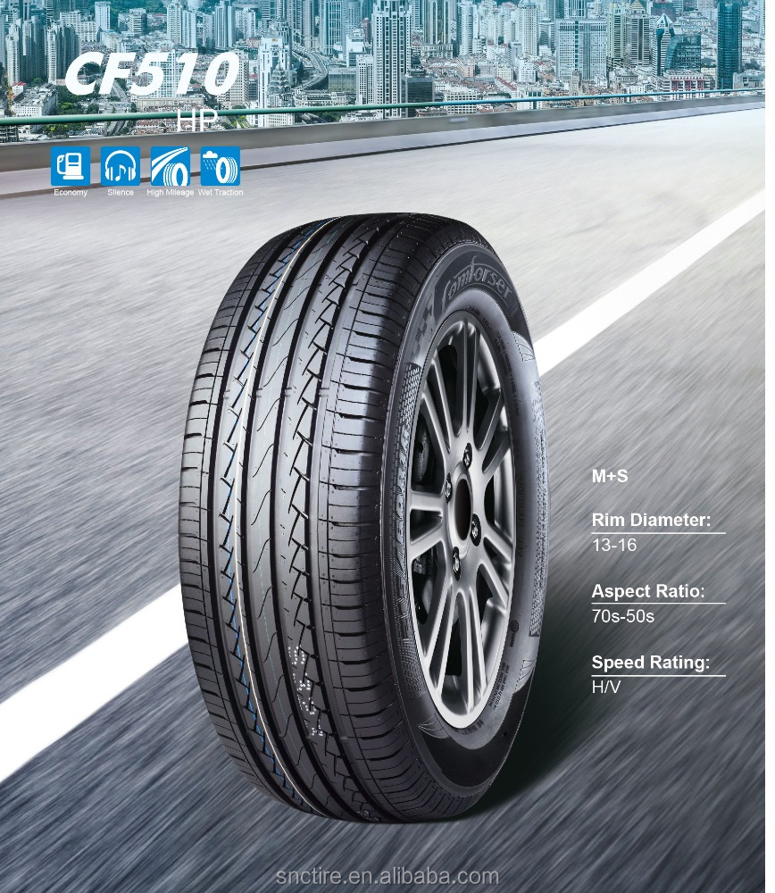 Comforser/ ROADCRUZA BRAND car tire for PCR with good price by HP from China