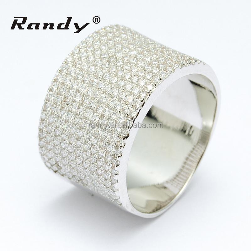 Anillo de compromiso de diamantes de lujo para los hombres, anillo diseños para hombres 24