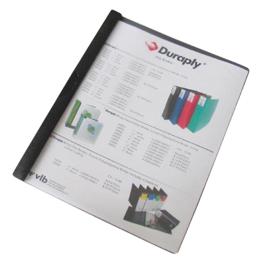 Filexec Slide-N-Lock Report Cover, Clear Cover, Black Back 68200
